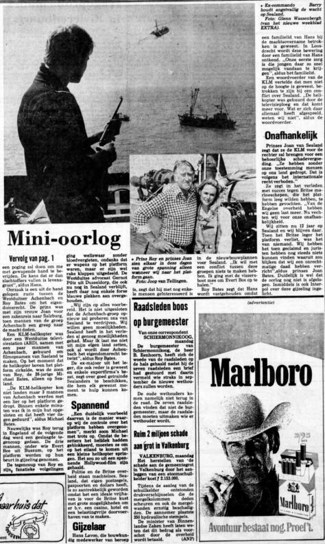 Vervolg krantenartikel De Telegraaf